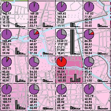 Vorschaugrafik zu Datensatz 'Entwicklung Luftqualität NOx-Gesamtemissionen 2008/2009 (Umweltatlas)'