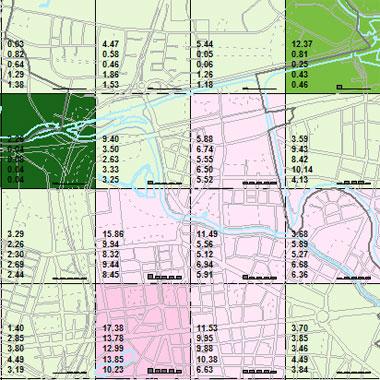 Vorschaugrafik zu Datensatz 'Entwicklung Luftqualität NOx-Emissionen Hausbrand 2009 (Umweltatlas)'