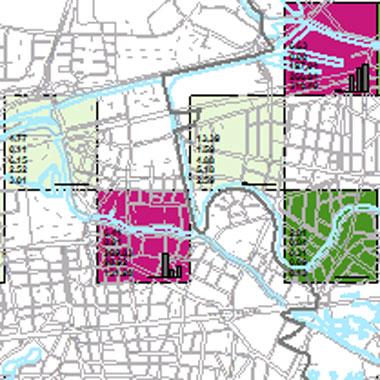 Vorschaugrafik zu Datensatz 'Entwicklung Luftqualität NOx-Emissionen Industrie 2008 (Umweltatlas)'