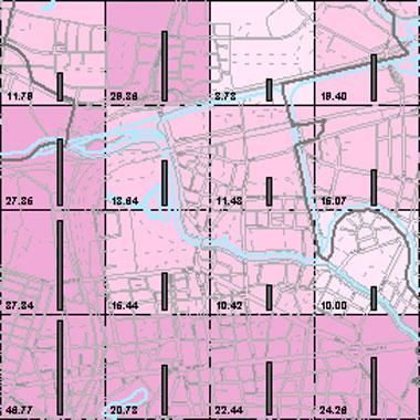 Vorschaugrafik zu Datensatz 'Entwicklung Luftqualität NOx-Emissionen Kfz-Verkehr HN 2009 (Umweltatlas)'
