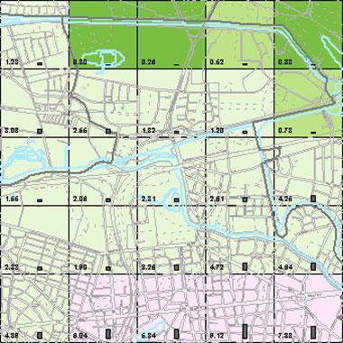 Vorschaugrafik zu Datensatz 'Entwicklung Luftqualität NOx-Emissionen Kfz-Verkehr NN 2009 (Umweltatlas)'