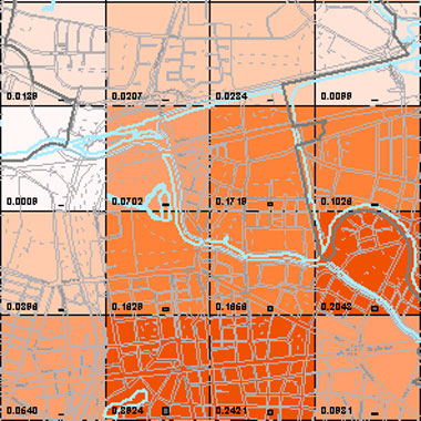Vorschaugrafik zu Datensatz 'Entwicklung Luftqualität PM2,5-Emissionen Hausbrand 2009 (Umweltatlas)'