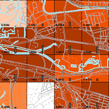 Vorschaugrafik zu Datensatz 'Entwicklung Luftqualität PM2,5-Emissionen Kfz-Verkehr HN 2009 (Umweltatlas)'