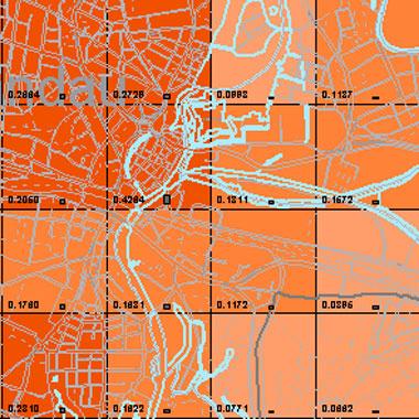 Vorschaugrafik zu Datensatz 'Entwicklung Luftqualität PM2,5-Emissionen Kfz-Verkehr NN 2009 (Umweltatlas)'
