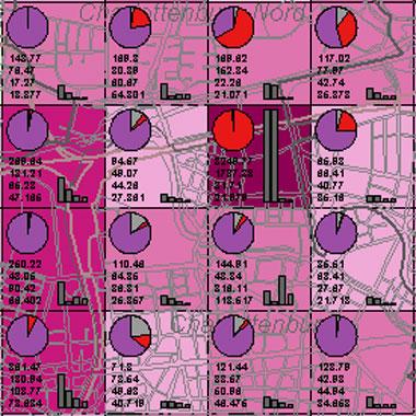 Vorschaugrafik zu Datensatz 'Entwicklung Luftqualität NOx-Gesamtemissionen 1989 (Umweltatlas)'