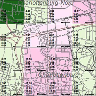 Vorschaugrafik zu Datensatz 'Entwicklung Luftqualität NOx-Emissionen Hausbrand 1989 (Umweltatlas)'