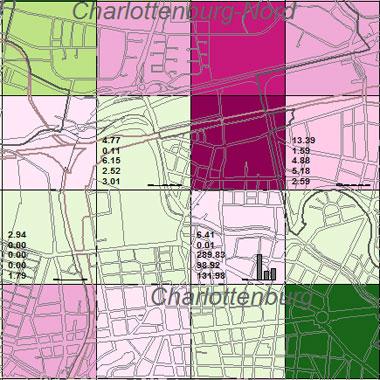 Vorschaugrafik zu Datensatz 'Entwicklung Luftqualität NOx-Emissionen Industrie 1989 (Umweltatlas)'