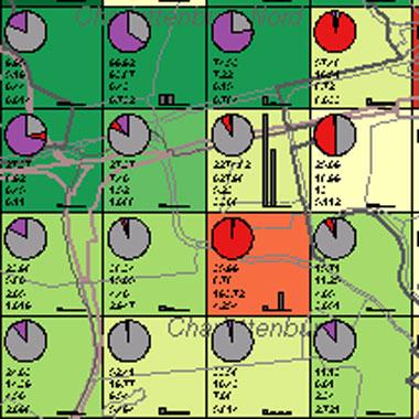 Vorschaugrafik zu Datensatz 'Entwicklung Luftqualität SO2-Gesamtemissionen 2002 (Umweltatlas)'