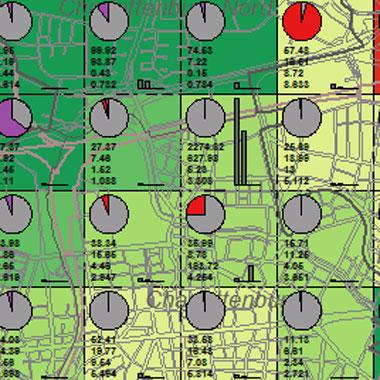 Vorschaugrafik zu Datensatz 'Entwicklung Luftqualität SO2-Gesamtemissionen 2005 (Umweltatlas)'