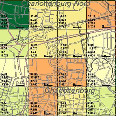 Vorschaugrafik zu Datensatz 'Entwicklung Luftqualität SO2-Emissionen Hausbrand 1989 (Umweltatlas)'