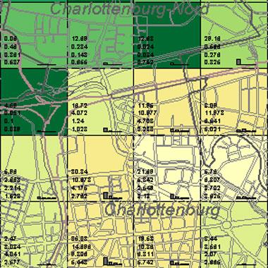 Vorschaugrafik zu Datensatz 'Entwicklung Luftqualität SO2-Emissionen Hausbrand 1994 (Umweltatlas)'
