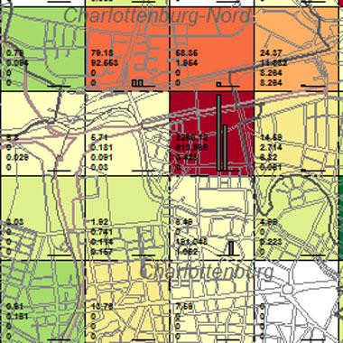 Vorschaugrafik zu Datensatz 'Entwicklung Luftqualität SO2-Emissionen Industrie 1989 (Umweltatlas)'