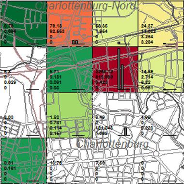 Vorschaugrafik zu Datensatz 'Entwicklung Luftqualität SO2-Emissionen Industrie 1994 (Umweltatlas)'