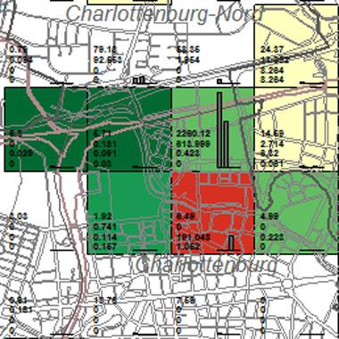 Vorschaugrafik zu Datensatz 'Entwicklung Luftqualität SO2-Emissionen Industrie 2002 (Umweltatlas)'