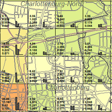 Vorschaugrafik zu Datensatz 'Entwicklung Luftqualität SO2-Emissionen Kfz-Verkehr 1989 (Umweltatlas)'