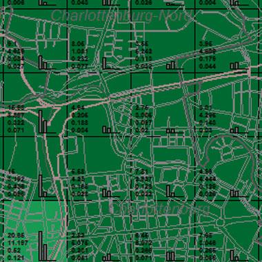 Vorschaugrafik zu Datensatz 'Entwicklung Luftqualität SO2-Emissionen Kfz-Verkehr 2005 (Umweltatlas)'